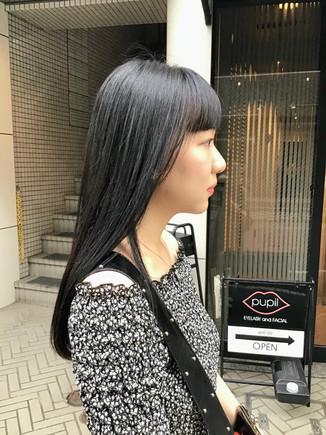 黒髪風ロングヘア