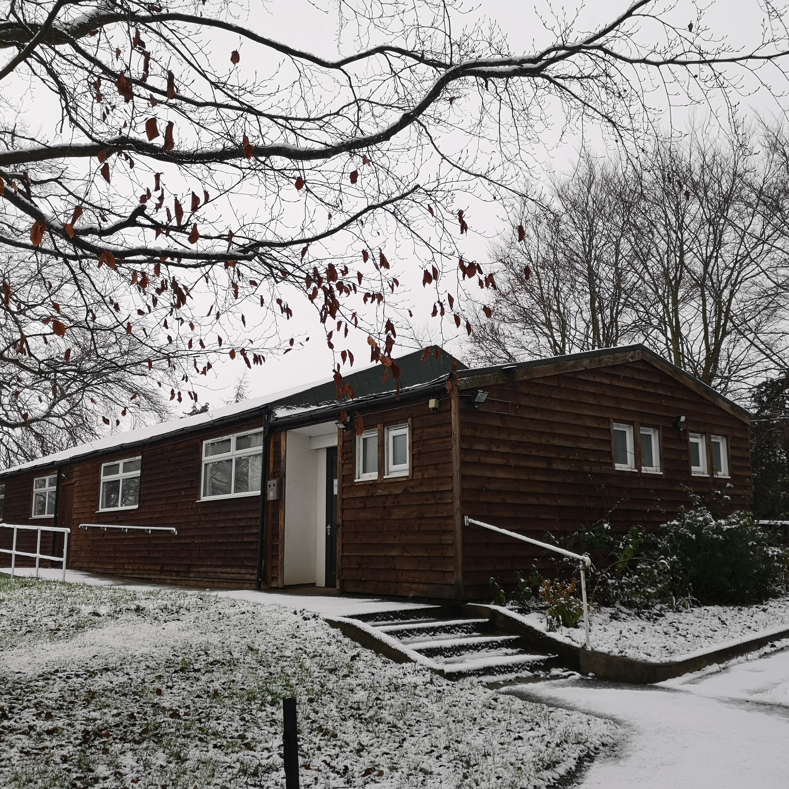 Jan 2021, Sutton Village Hall in snow