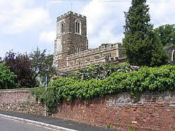 All Saints Church, Sutton, Beds from road