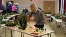 Dec 2017 Making Christmas wreaths