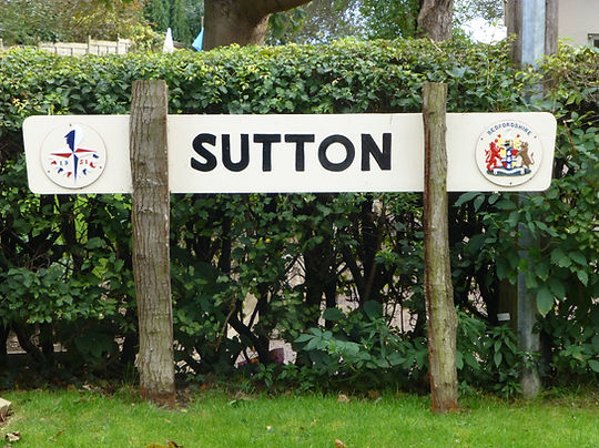 Sutton Bedfordshire roadsign
