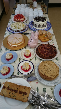 Coffee morning cakes