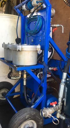 KLEENOIL Filtration cart homemade design