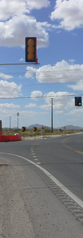 Intersection of solar powered signals