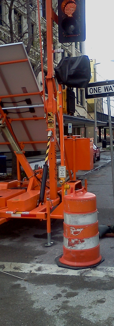 Pedestrian Signals on Portable Signal Tr
