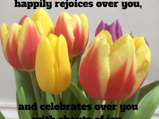 The LORD your God happily rejoices..