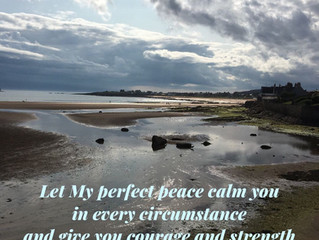Let my perfect peace calm you..