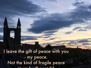 I leave the gift of peace with you..