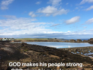 GOD makes his people strong..
