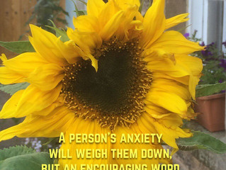 A person's anxiety will weigh them down..