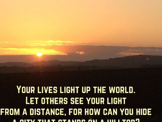 Your lives light up the world