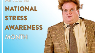 HOLY SCHNIKIES! It's National Stress Awareness Month.