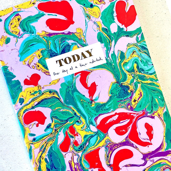 colourful marbled notebooks, daily mindfulness journal, Lined A5 Notebook, Floppy toast, pretty notebooks, stationery lovers