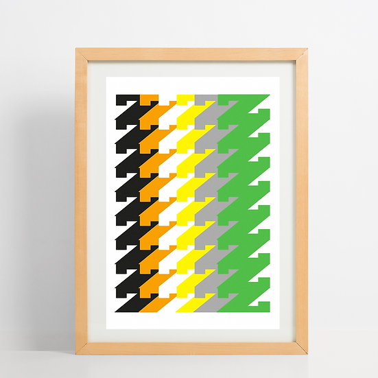 colourful z typography print floppy toast limited edition