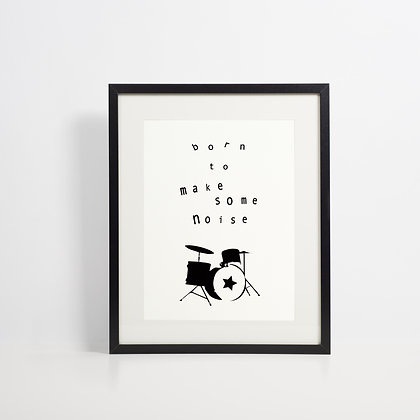 Drummer Gift, Cool Nursery Decor, Rock and Roll Print