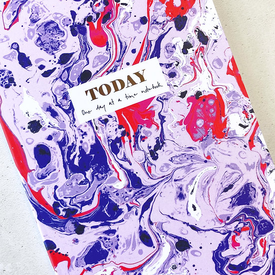 colourful marbled notebooks, daily mindfulness journal, Colourful Lined A5 Notebook