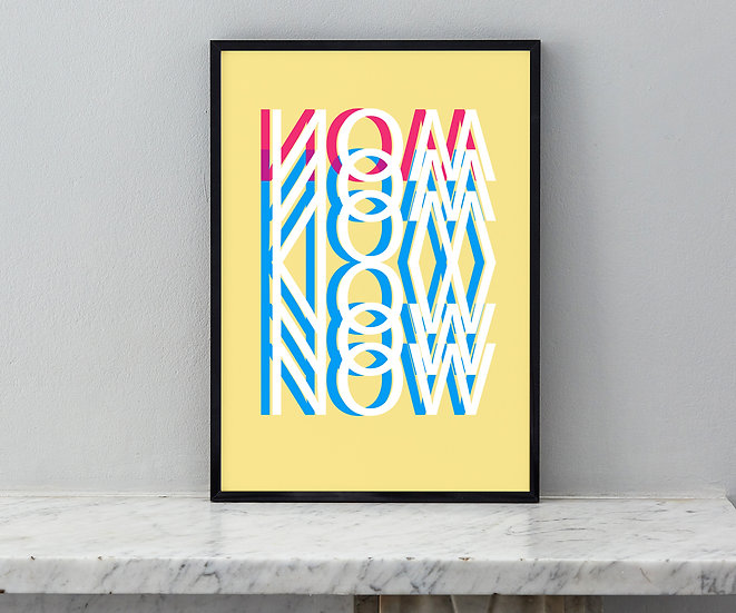 NOW - Yellow, Limited Edition Print