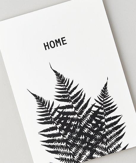 black and white botanical fern print floppy toast