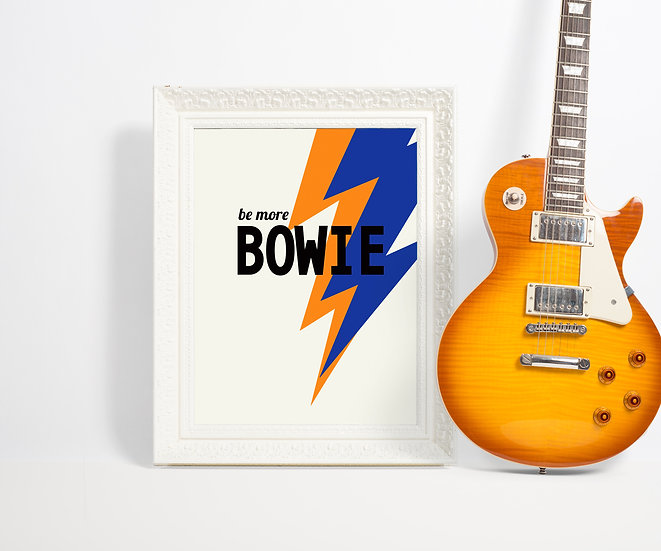 be more bowie art print, david bowie poster