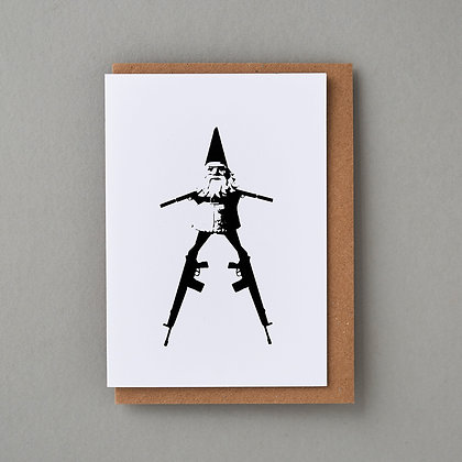 Gun Gnome - Greeting card