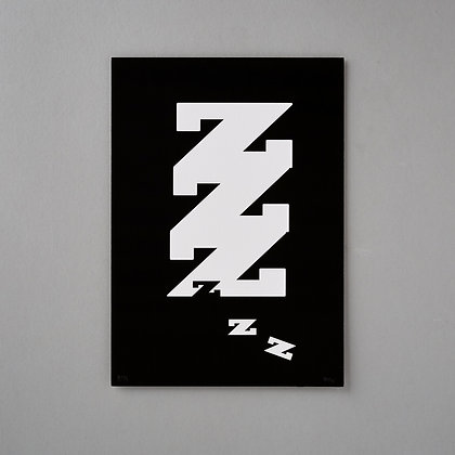 Black and White Typography Print