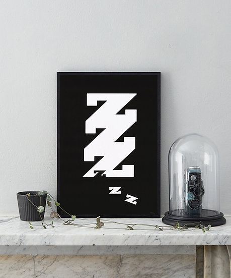COOL BLACK AND WHITE ART PRINT