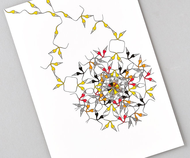 colourful abstract art prints, geometric pattern art, colourful modern art