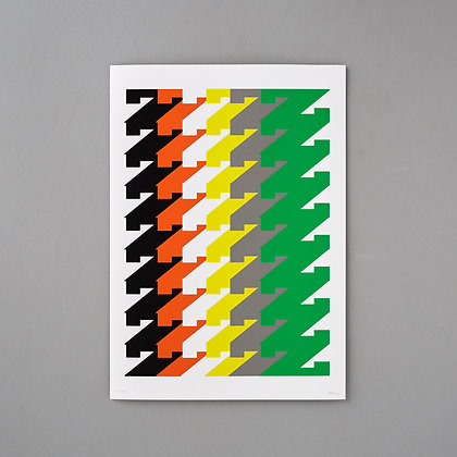 Colourful Wall Art, Typography Print