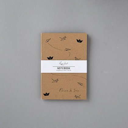 Recycled Lined Notebook Floppy Toast UK