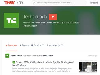 TechCrunch covered by TechCrunch on TNW | 作为公司的科技媒体还可以做什么