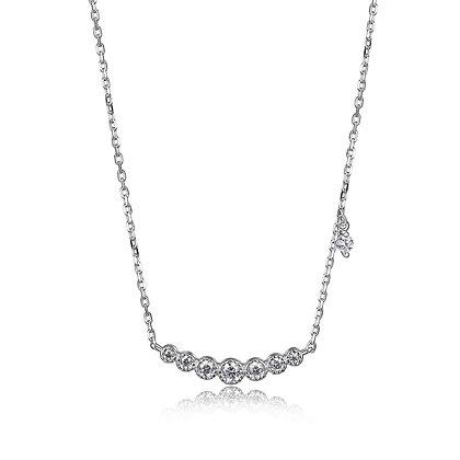 Round Cubic Zirconia Seven Stone Necklace