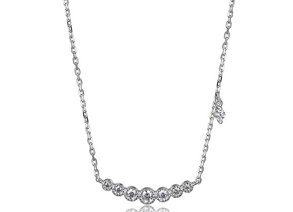 Round Cubic Zirconia Seven Stone Necklace