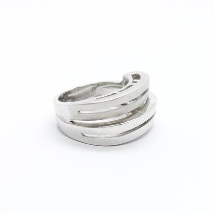 White Gold Layered Ring