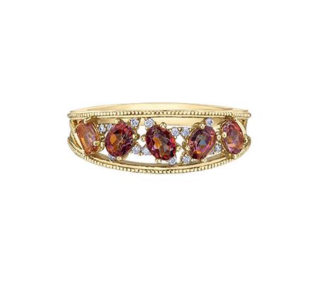 Sunrise Topaz & Diamond Ring