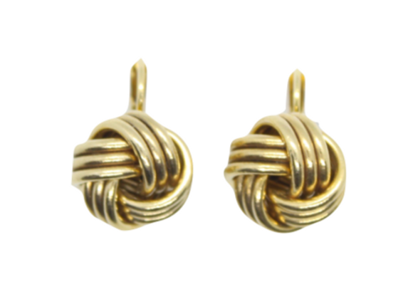 Yellow Gold Knot Earrings