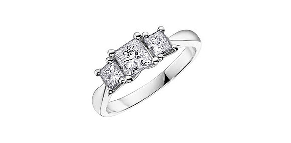Princess Cut Trinity Diamond Ring