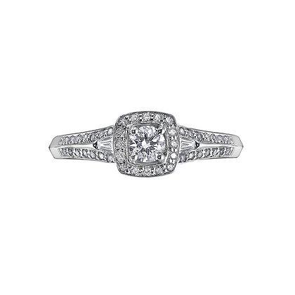 Brilliant Cut Cushion Halo Diamond Ring