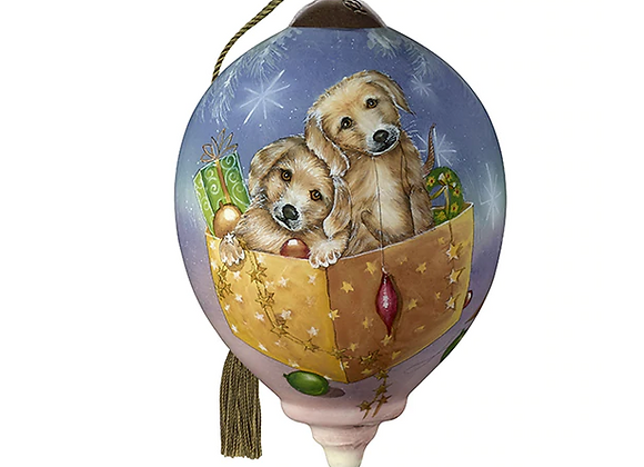 """""""Christmas Puppies"""" Ornament"""