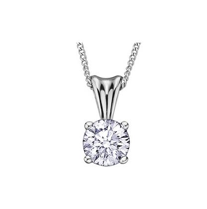 Round Canadian Diamond Solitaire Pendant (0.10 carat)