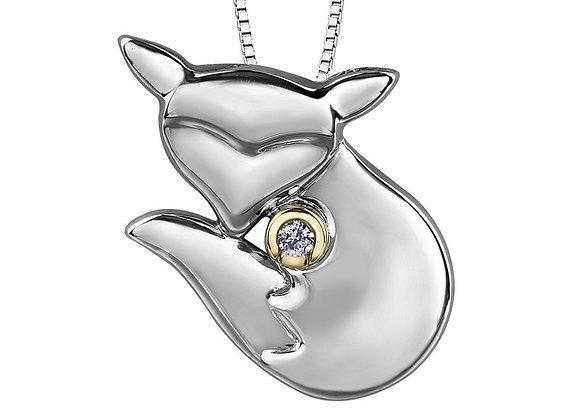 Canadian Diamond Fox Pendant