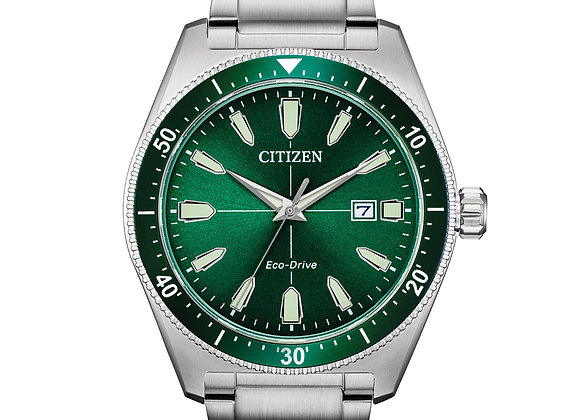 Citizen - Green Dial and Stainless Steel Watch
