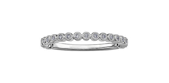 White Gold Bezel Set Diamond Chi Chi Band