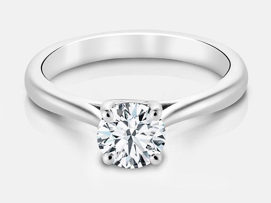 """Mackenzie"" Cathedral Trellis Canadian Engagement Ring"