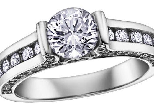 Brilliant Cut Channel Set Diamond Ring