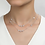 Thumbnail: Silver Long Necklace With Stationed Simulated Diamonds