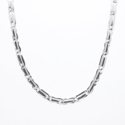 "White Gold Fancy Link Chain (23"")"