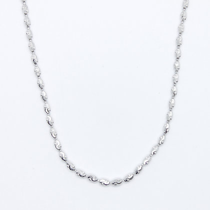 """White Gold Fancy Link Necklace (16"""")"""