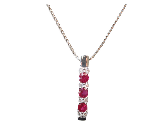 Trinity Ruby Pendant With Diamonds