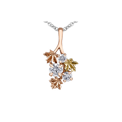 "Maple Leaf ""Seasons"" Canadian Diamond Pendant"
