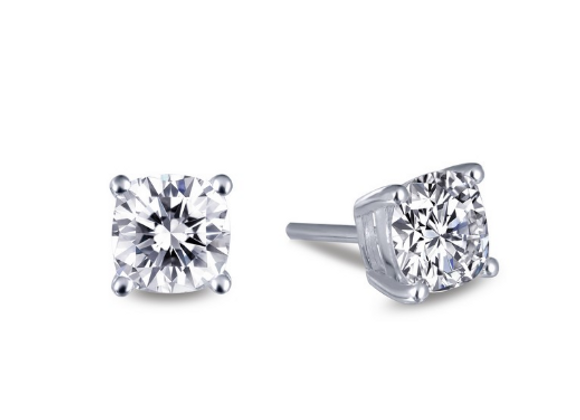 Round Simulated Diamond Studs